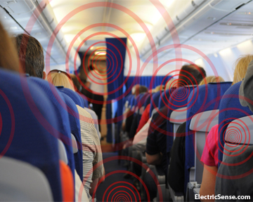 wifi radiation in planes