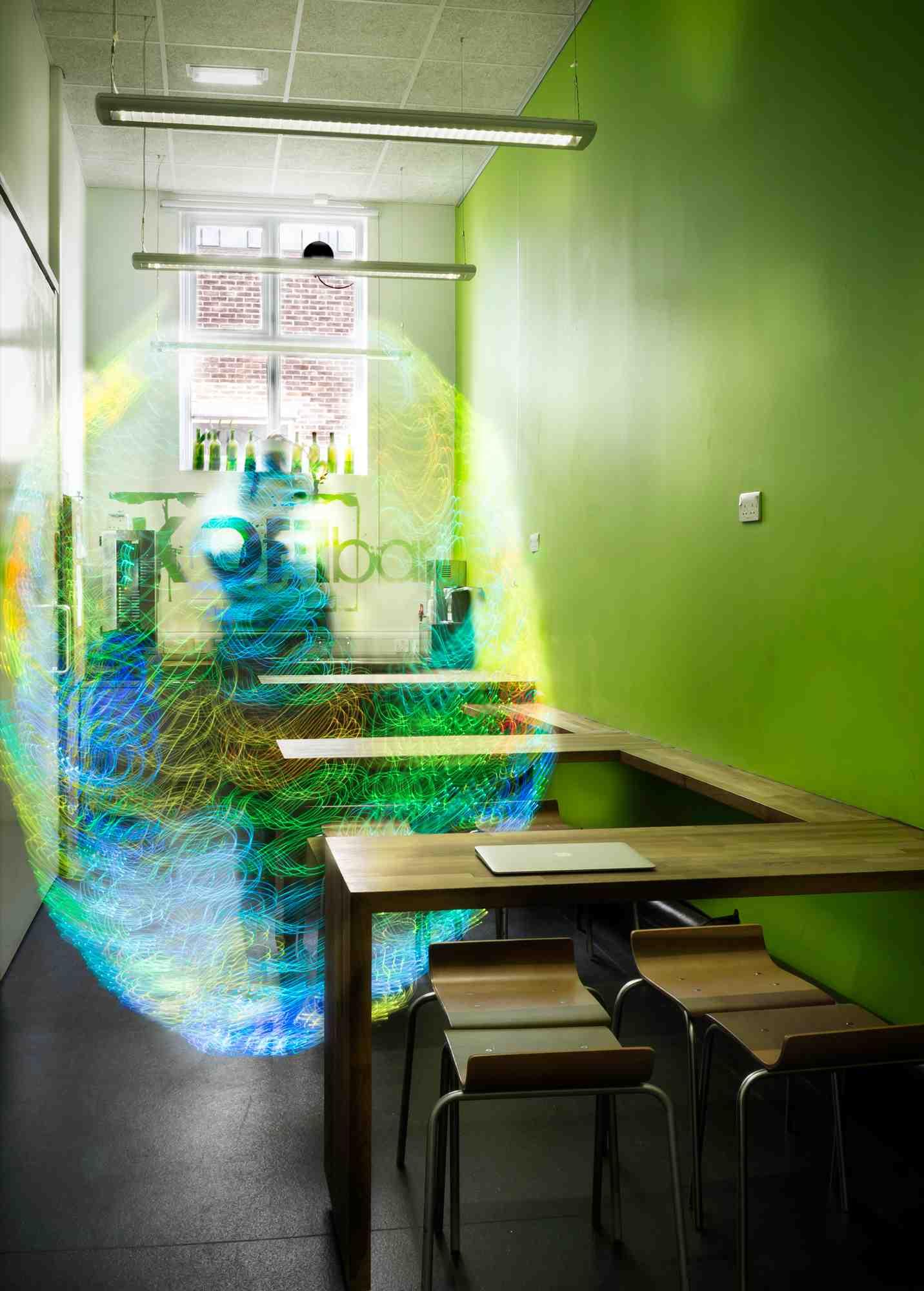 Wifi radiation image in coffee bar electricsense
