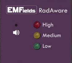 RadAware Alarm indications