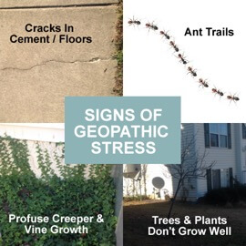 The signs of Geopathic Stress EMFs