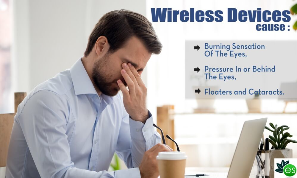 Wireless devices effects on the eyes