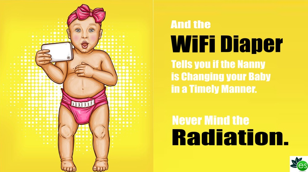 Baby exposed to WIFI radiation from diaper