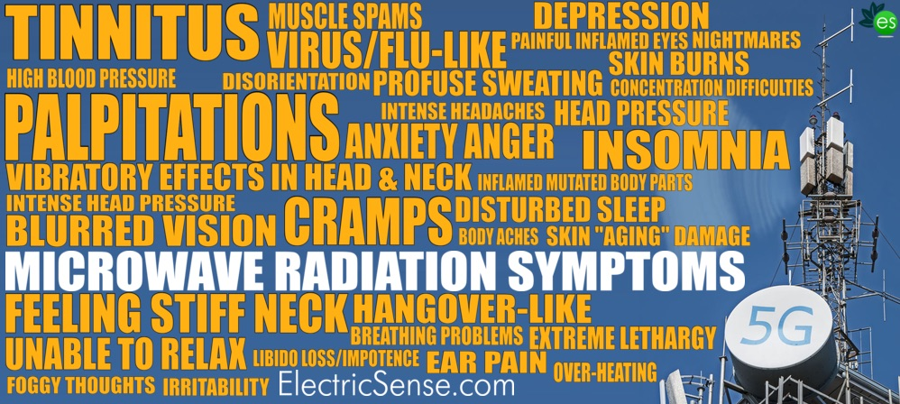 List of MICROWAVE RADIATION SYMPTOMS